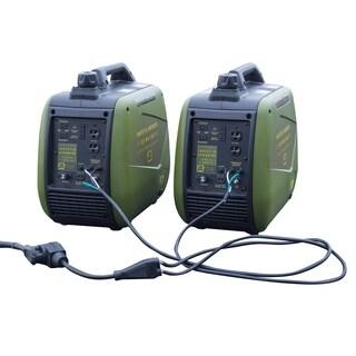 4400 Watt Gasoline Inverter Generator Kit w/ 30 Amp Parallel Cable - Green