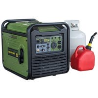 3,500-Watt Dual Fuel Inverter Generator for Sensitive Electronics - Green