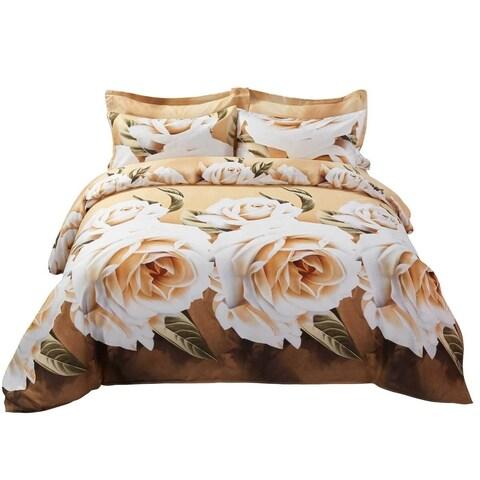 6 Piece Duvet Cover Set w. Fitted Sheet - Zest Luxury Bedding