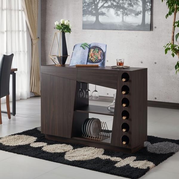 Furniture Of America Aaron Modern Wine Rack Buffet