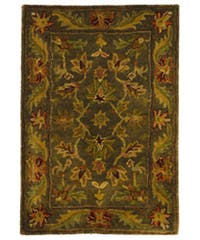 Safavieh Handmade Antiquities Kerman Charcoal Green Wool Rug - 2' x 3'