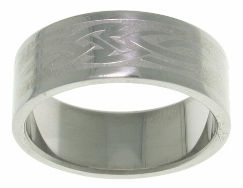 Carolina Glamour Collection Men's Celtic Tribal Knot Stainless Steel Ring