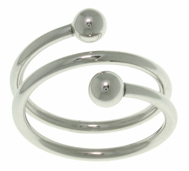 Carolina Glamour Collection Sophisticated Twisted Spiral Polished Surgical Stainless Steel Ring