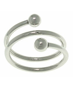 Jewelry Trends Sophisticated Twisted Spiral Polished Surgical Stainless Steel Ring