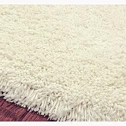 Safavieh Classic Plush Handmade White Shag Rug (3' x 5')