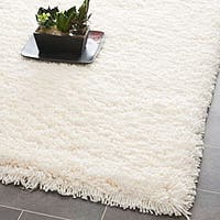 Safavieh Classic Plush Handmade Super Dense Honey White Shag Rug - 3' x 5'