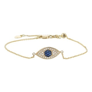 Shop Turkish Simple Minimalist 14K Real Yellow Gold Blue