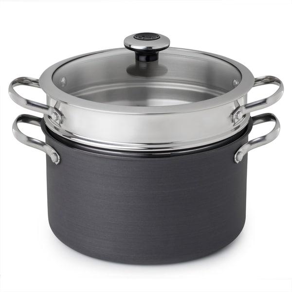 Revere Hard Anodized Aluminum 6.5-Qt Stock Pot w/ Insert