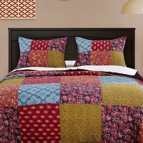 Barefoot Bungalow Normandy Quilted Pillow Shams, Set of Two