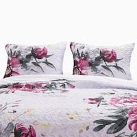 Greenland Home Rose Touch Quilted Pillow Shams, Set of Two