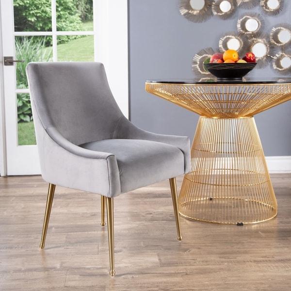 Abbyson Bevie Velvet Dining Chair by Abbyson