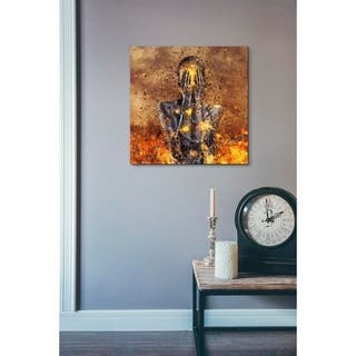 """Cortesi Home """"Through Ashes Rise"""" by Mario Sanchez Nevado, Giclee Canvas Wall Art - Yellow"""