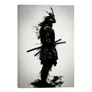 "Cortesi Home ""Armored Samurai"" by Nicklas Gustafsson, Giclee Canvas Wall Art - Black"