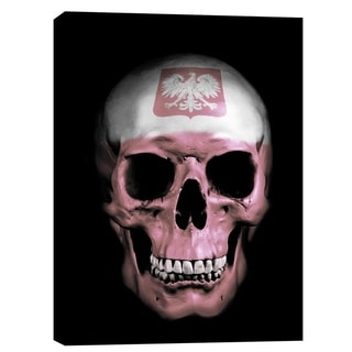 "Cortesi Home ""Polish Skull"" by Nicklas Gustafsson, Giclee Canvas Wall Art - Black"