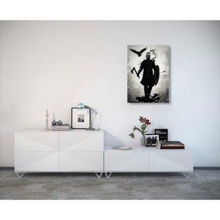 """Cortesi Home """"To Valhalla"""" by Nicklas Gustafsson, Giclee Canvas Wall Art - Black"""