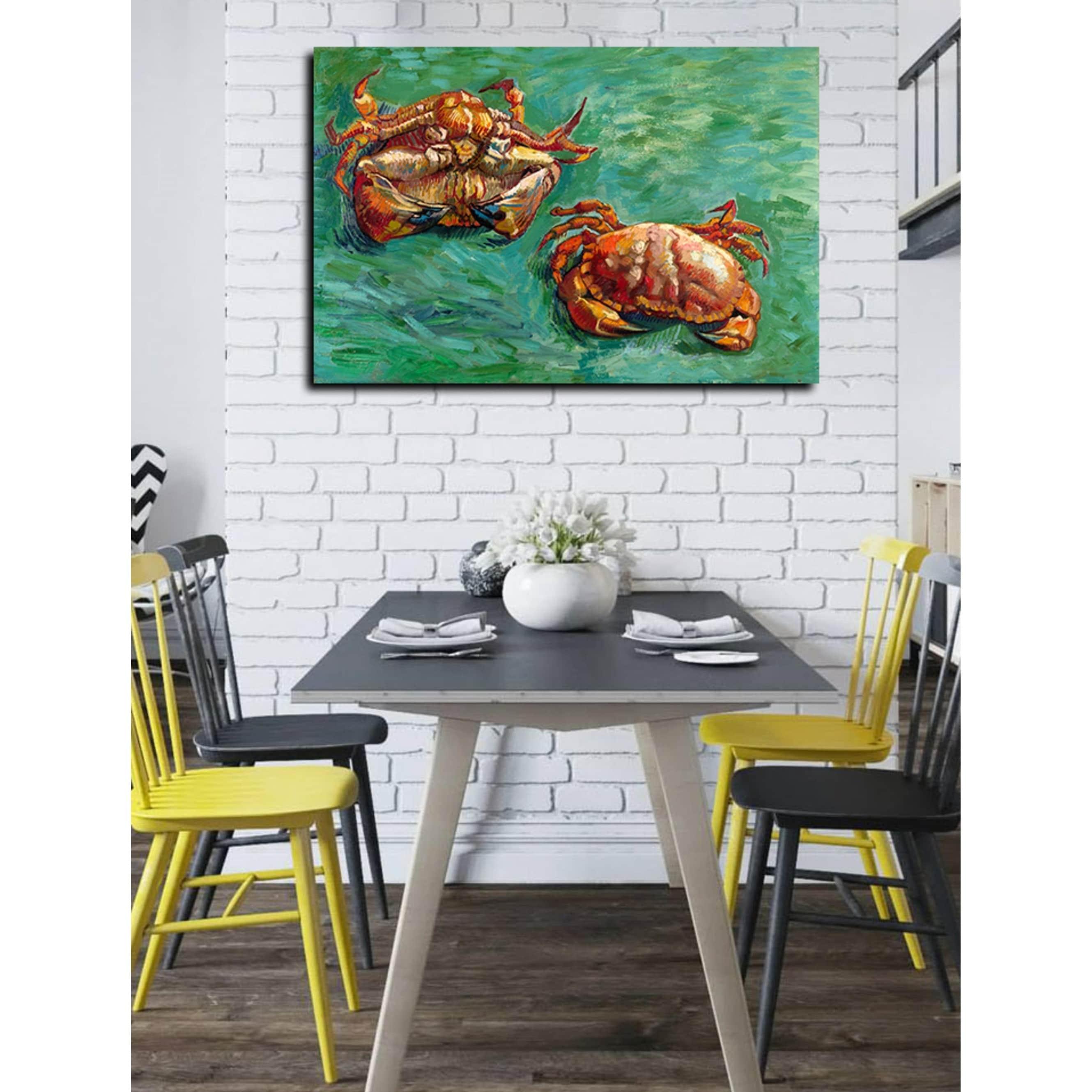 Gogh Van Vincent Two Crabs   Wall  Art  Canvas