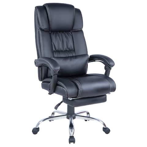 Somette Computer Chair with Extendable Footrest