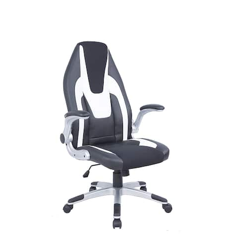 Somette Black and White 2-Tone Adjustable Computer Chair