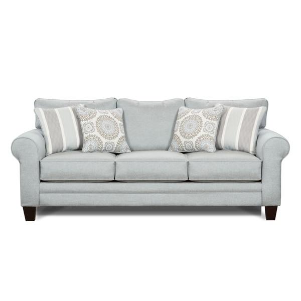 Shop Grande Mist Grey Semi-firm Sleeper Sofa With