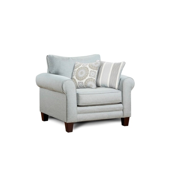 Shop Grand Mist Grey Accent Chair Free Shipping Today
