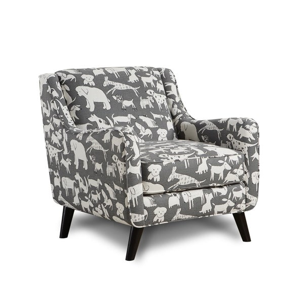 Shop Doggie Graphite Fabric Upholstered Accent Chair Free Shipping