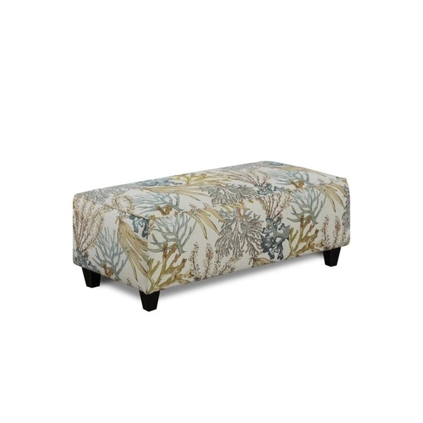 Coral Reef Oceanside Cocktail Ottoman