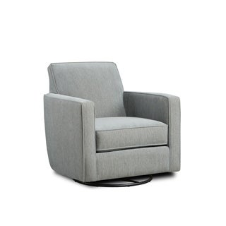 Swanky Glass Grey Accent Chair