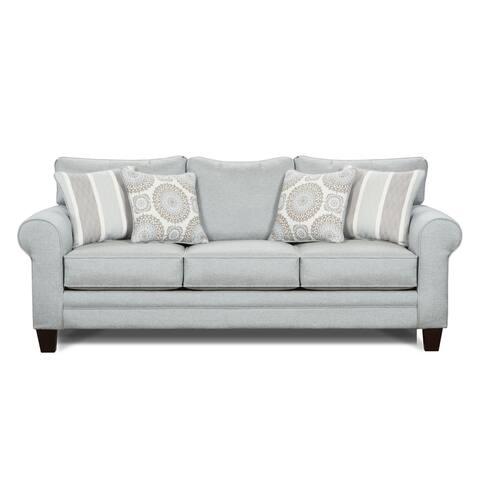 Grande Mist Round Arm Stationary Sofa