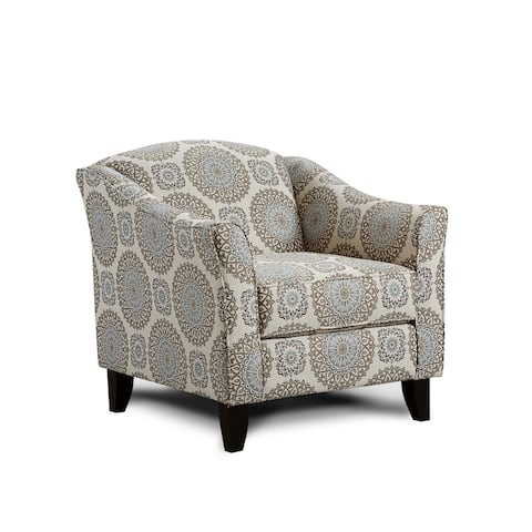 Brianne Twilight Grey Rayon Accent Chair