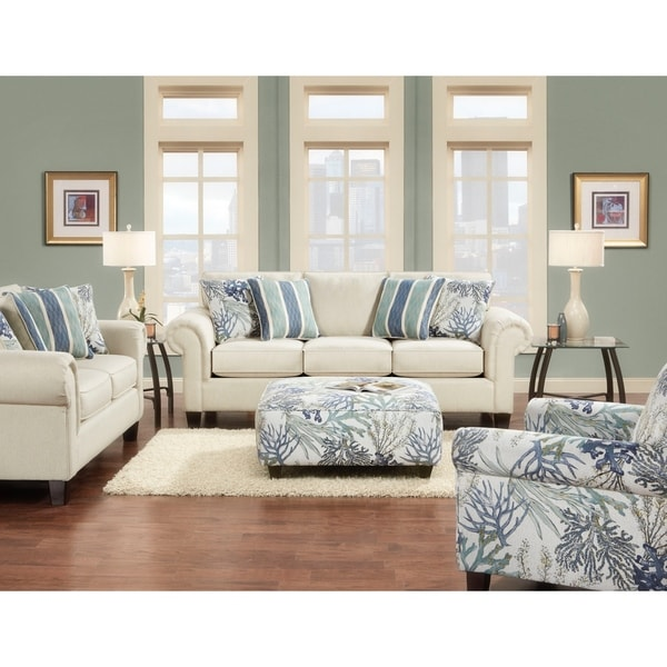 Keynote Linen White Sofa by Generic