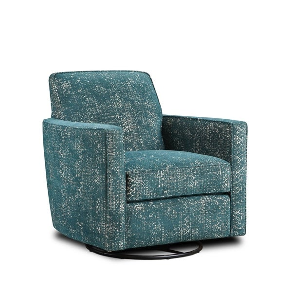 Shop Valera Luxe Jade Fabric Upholstered Swivel Glider Chair   Free  Shipping Today   Overstock   25429652