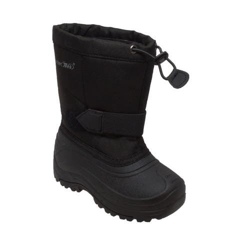Tecs Girl's Nylon Winter Boots Black