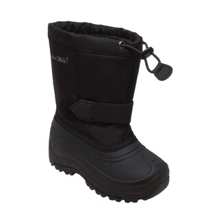 Girl's Nylon Winter Boots Black