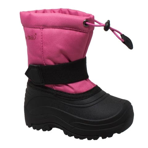 Tecs Girls Nylon Winter Boots Pink