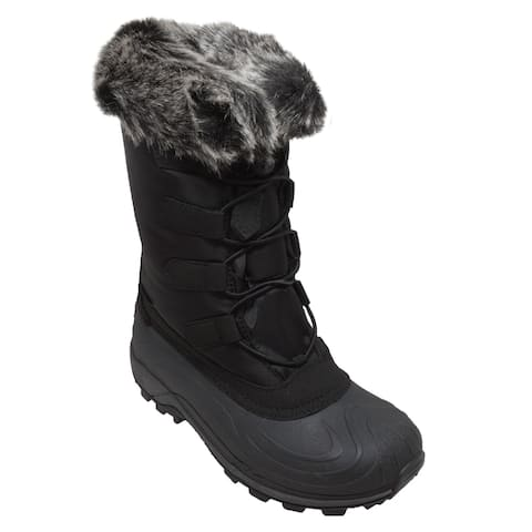 Women's Nylon Winter Boots Black