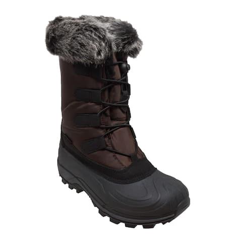 Women's Nylon Winter Boots Brown