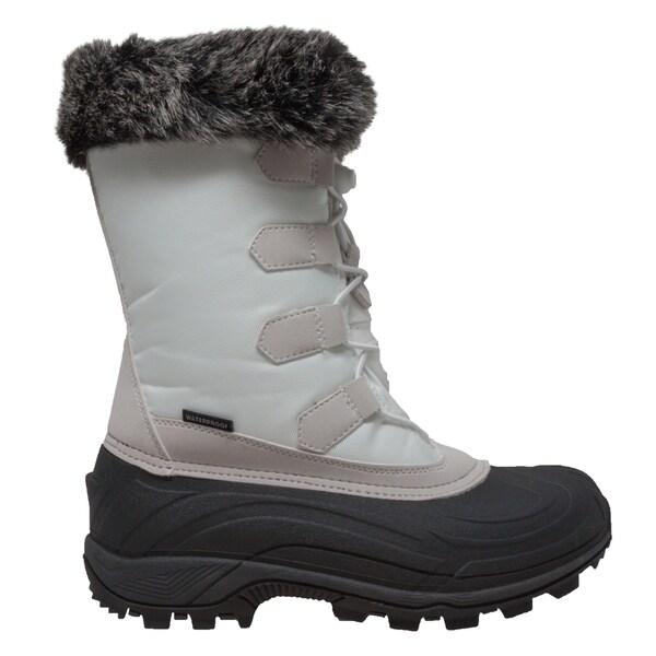 Women's Nylon Winter Boots White