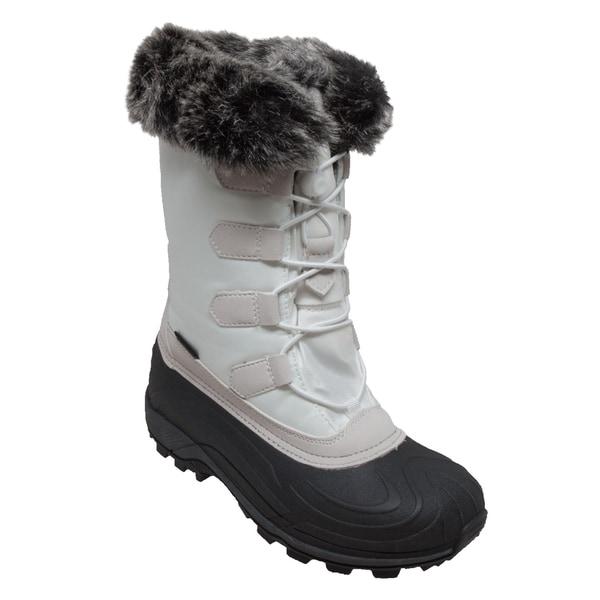 Nylon Winter Boots White