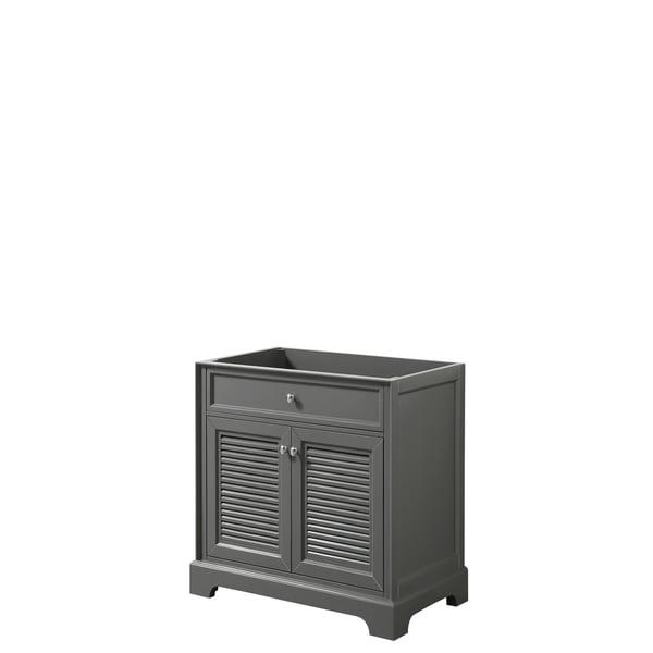 Tamara 30-inch Dark Gray Single Vanity Cabinet, No Mirror