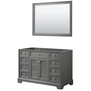 Tamara 48-inch Dark Gray Single Vanity Cabinet, 46-inch Mirror