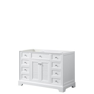 Tamara 48-inch White Single Vanity Cabinet, No Mirror