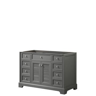 Tamara 48-inch Dark Gray Single Vanity Cabinet, No Mirror