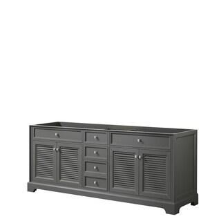 Tamara 80-inch Dark Gray Double Vanity Cabinet, No Mirror