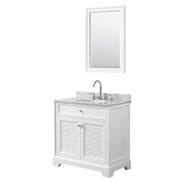 Tamara 30-inch White Single Vanity, Oval Sink, 24-inch Mirror