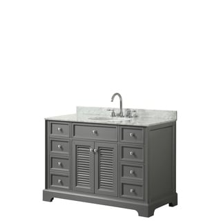 Tamara 48-inch Dark Gray Single Vanity, Oval Sink, No Mirror