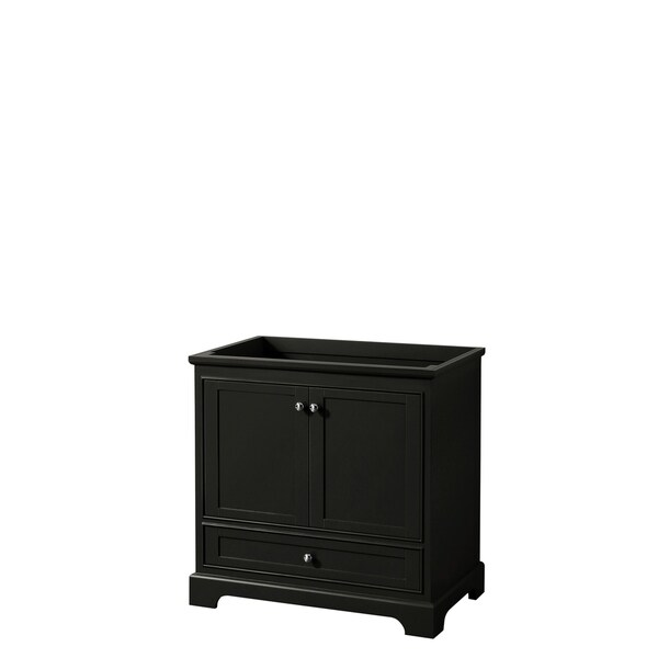 Deborah 36-inch Dark Espresso Single Vanity Cabinet, No Mirror
