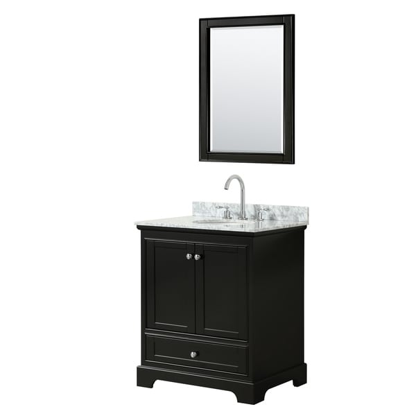 Shop Deborah 30-inch Dark Espresso Single Vanity, Oval ...
