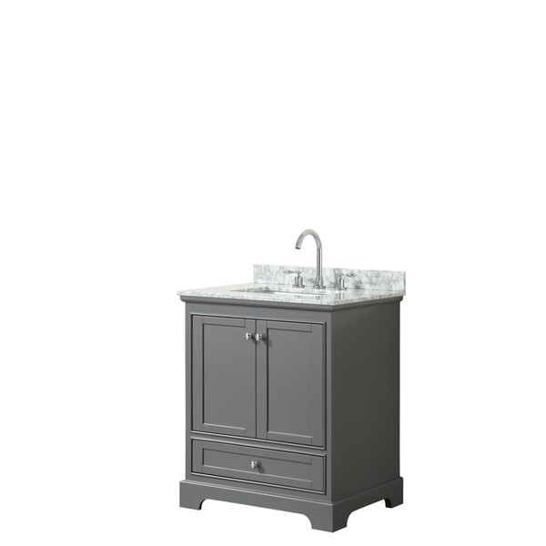 Deborah 30-inch Dark Gray Single Vanity, Square Sink, No Mirror