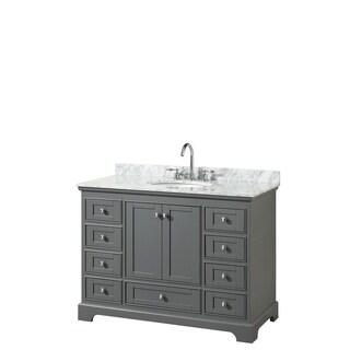 Deborah 48-inch Dark Gray Single Vanity, Oval Sink, No Mirror