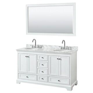 Link to Deborah 60-inch White Double Vanity, Oval Sinks, 58-inch Mirror Similar Items in Bathroom Vanities